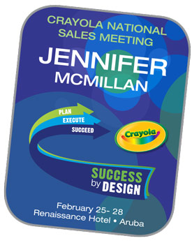 Crayola Badge created for event
